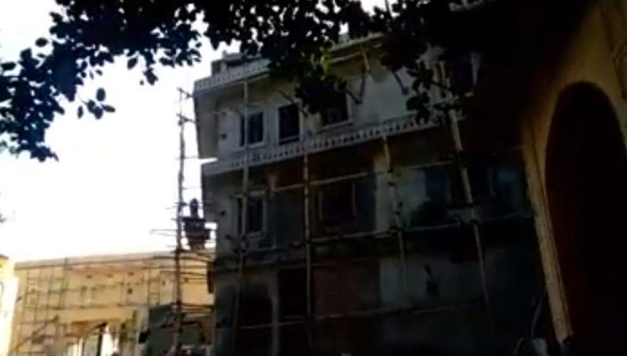सिटी पैलेस के संरक्षित भवनों के बीच खड़ा हो गया अवैध निर्माण