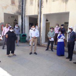 चिकित्सा मंत्री ने विफा मास्क वितरण अभियान को सराहा -मंत्री को 11 हजार मास्क भेंट