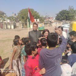 कठपुतली नगर में मनाया गणतंत्र दिवस